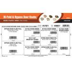 Bi-Fold & Bypass Door Knobs Assortment (Brass, Plastic, and Wood Pulls & Knobs)