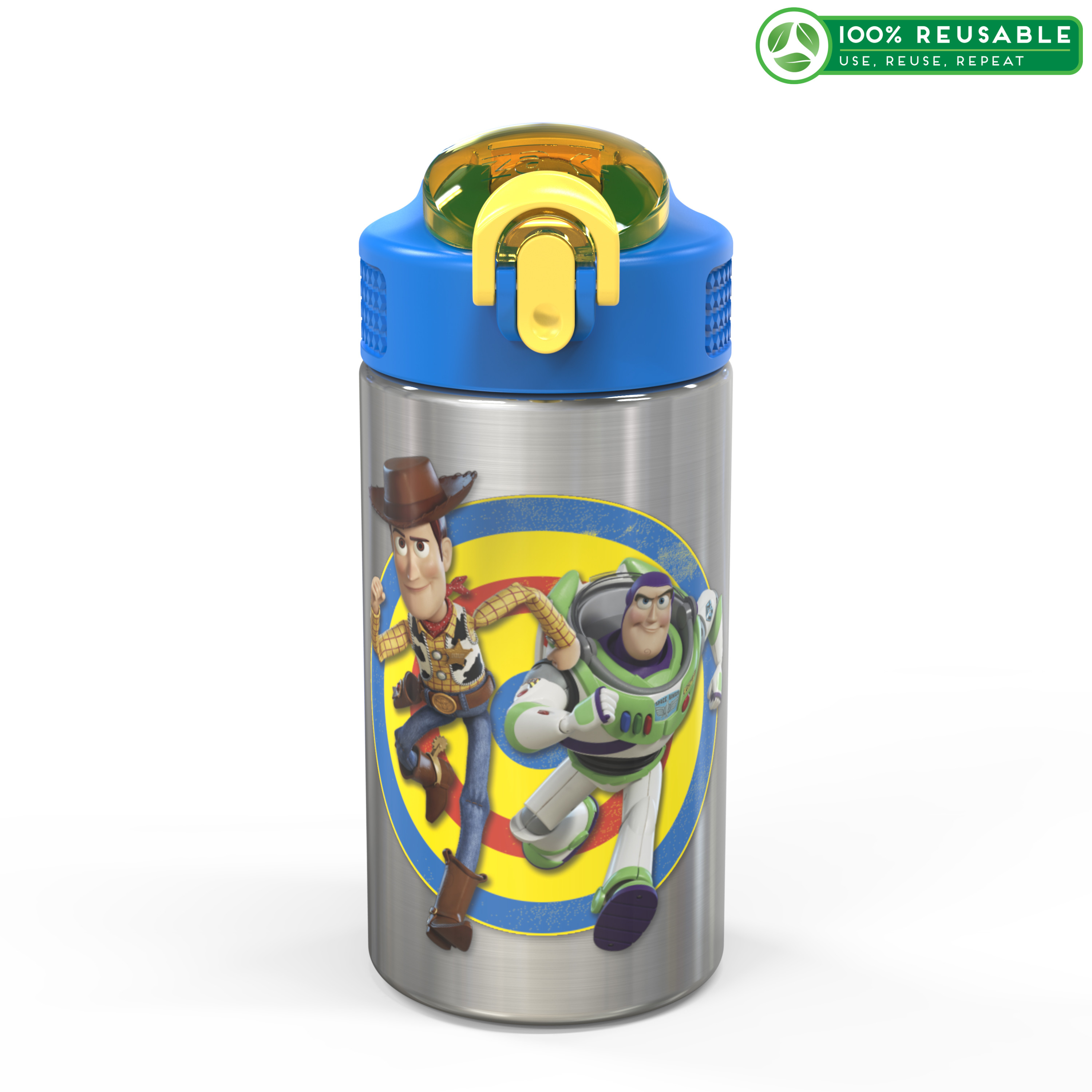 Toy Story 4 Movie 15.5 ounce Water Bottle, Buzz and Woody slideshow image 1