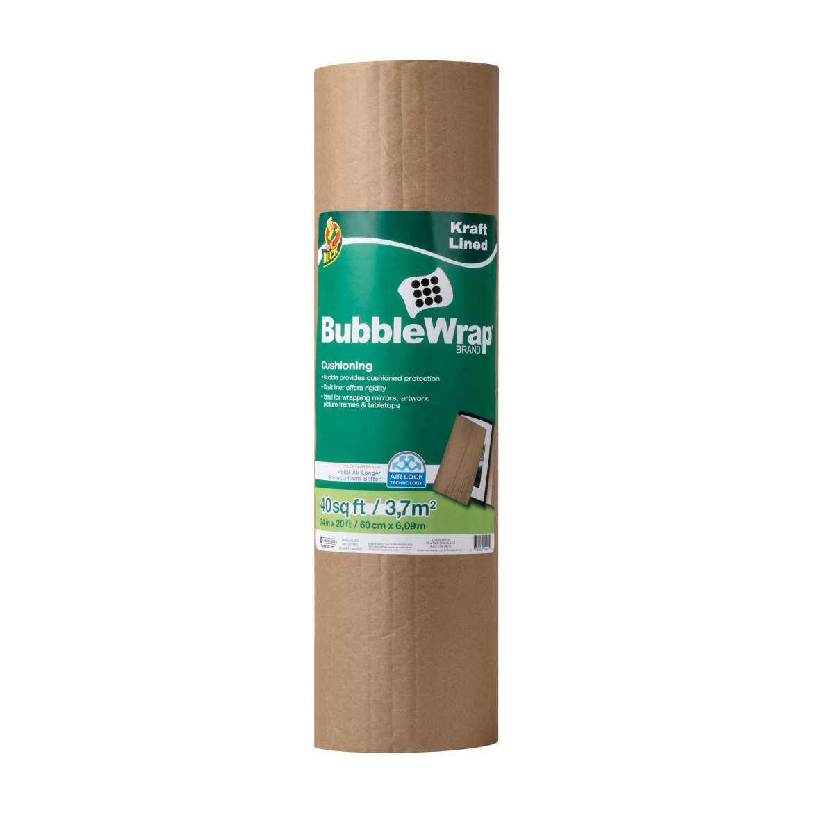 Duck® Brand Kraft Lined Bubble Wrap® Cushioning