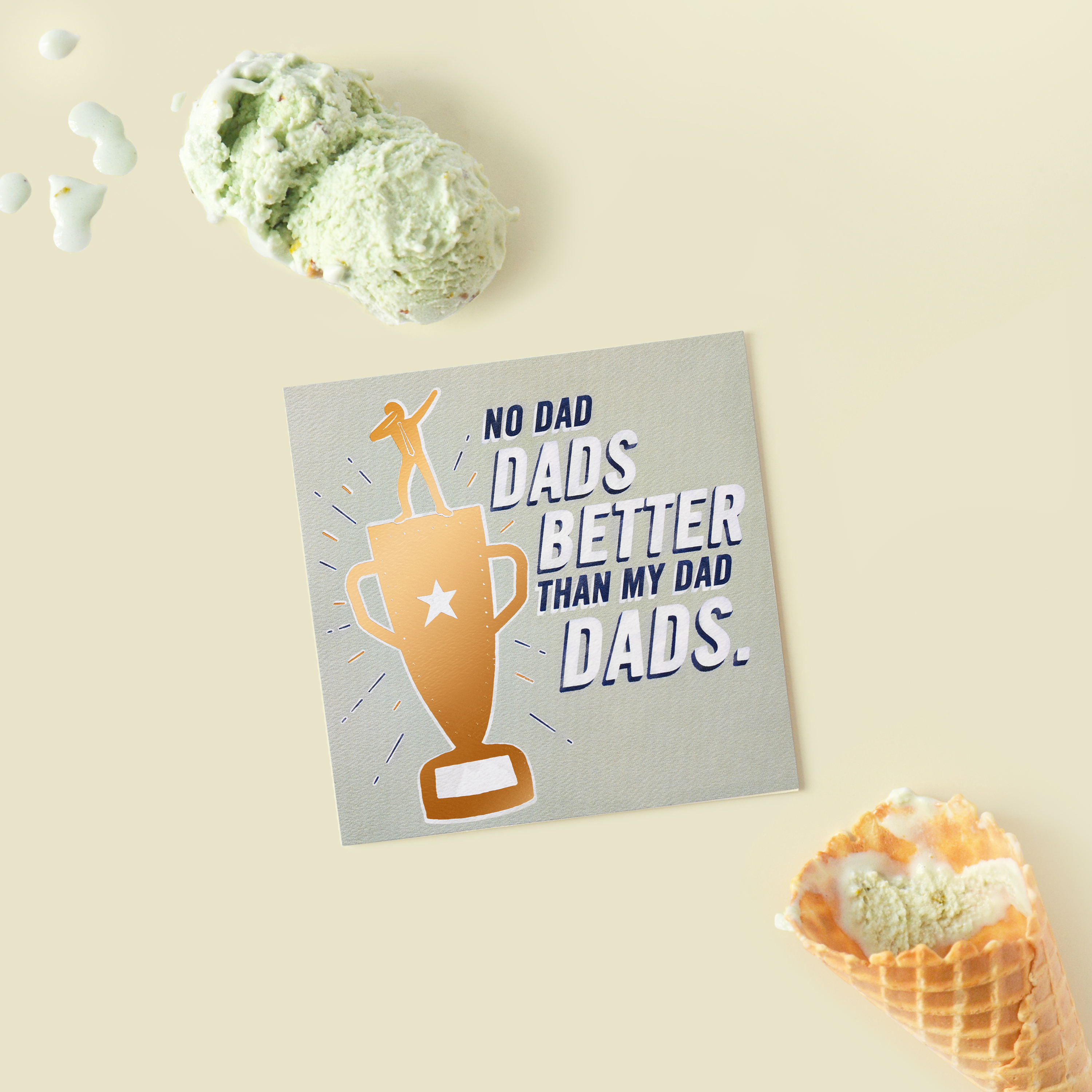 Trophy Father's Day Card image