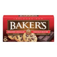 Baker's 100% Pure Semi-Sweet Chocolate Baking Bar
