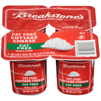 Breakstone's Small Curd Fat-Free Cottage Cheese 4 - 4 oz Blister Pack