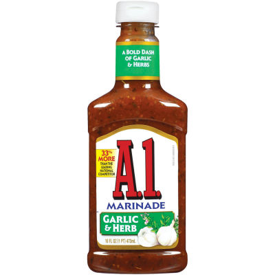 A.1. Steakhouse Garlic and Herb Marinade 16 oz Bottle