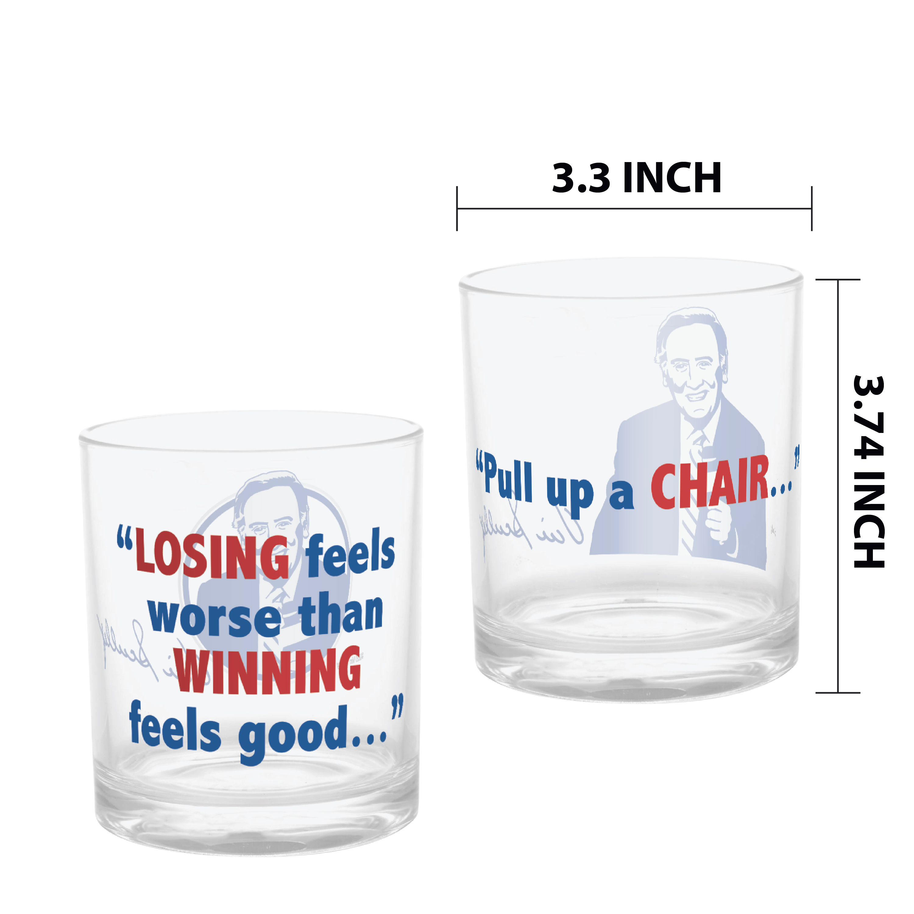 Zak Hydration 14 ounce Plastic Double Old-fashion Glass, Vin Scully, 4-piece set slideshow image 3