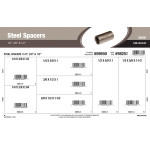 "Steel Spacers Assortment (1/4"", 3/8"" & 1/2"" Inner diameter)"