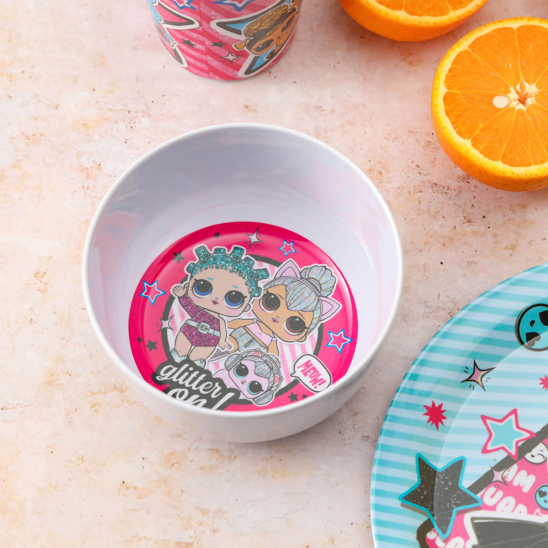LOL Surprise Kid's Dinnerware Set, Glitter Babies, 3-piece set slideshow image 2