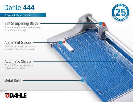 Dahle 444 Premium Rotary Trimmer InfoGraphic