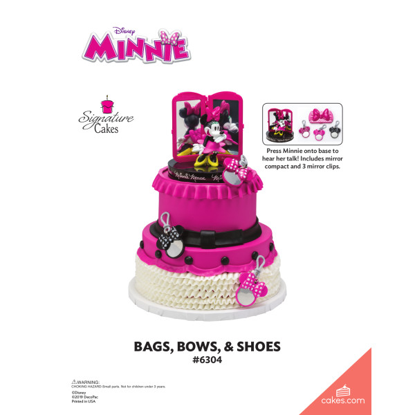 Minnie Mouse Bags, Bows & Shoes Signature DecoSet® The Magic of Cakes® Page
