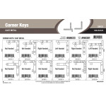 "Cast-metal Corner Keys Assortment (1/5"" thru 2/5"" Width)"