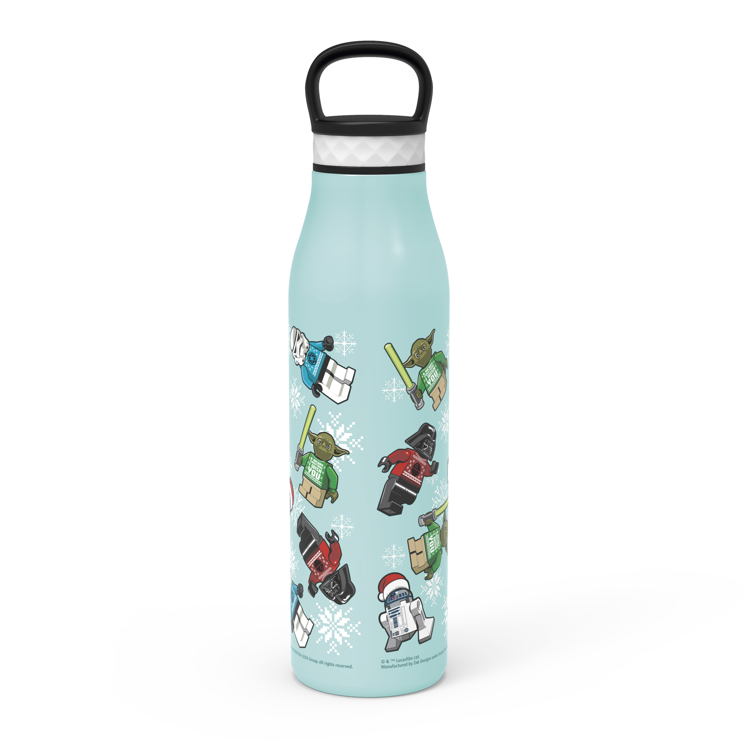 Lego Star Wars 20 ounce Stainless Steel Vacuum Insulated Water Bottle, R2-D2, Yoda and Darth Vader slideshow image 3