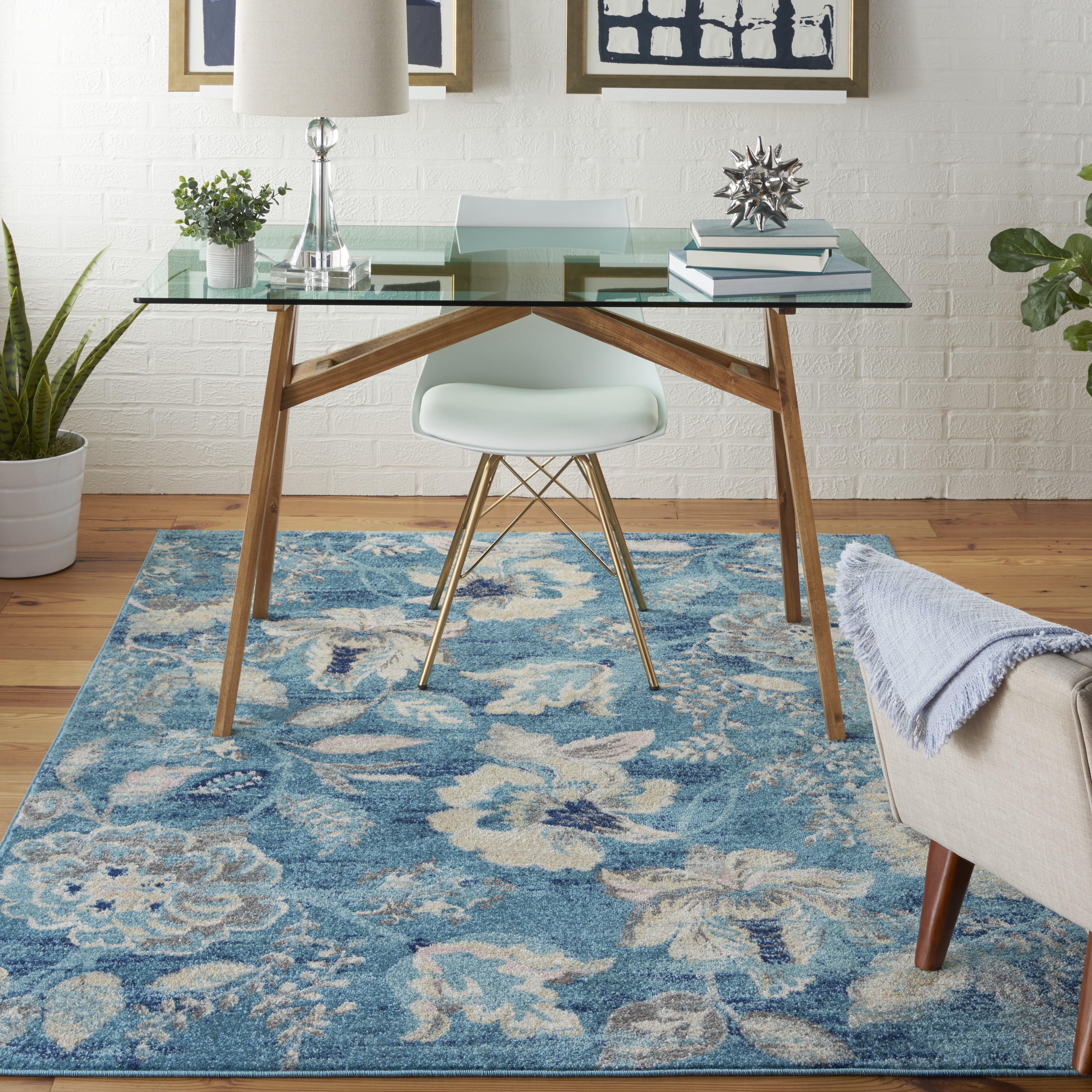 Nourison Tranquil TRA02 Turquoise Rug