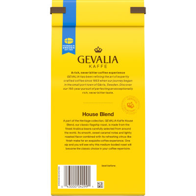 Gevalia House Blend Ground Coffee, 12 oz Bag