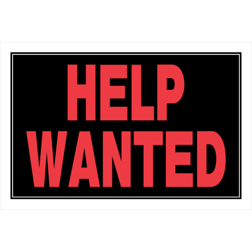 Red and Black Help Wanted Sign 8