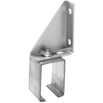 Hillman Box Rail Bracket Face Mount Single Adjustable