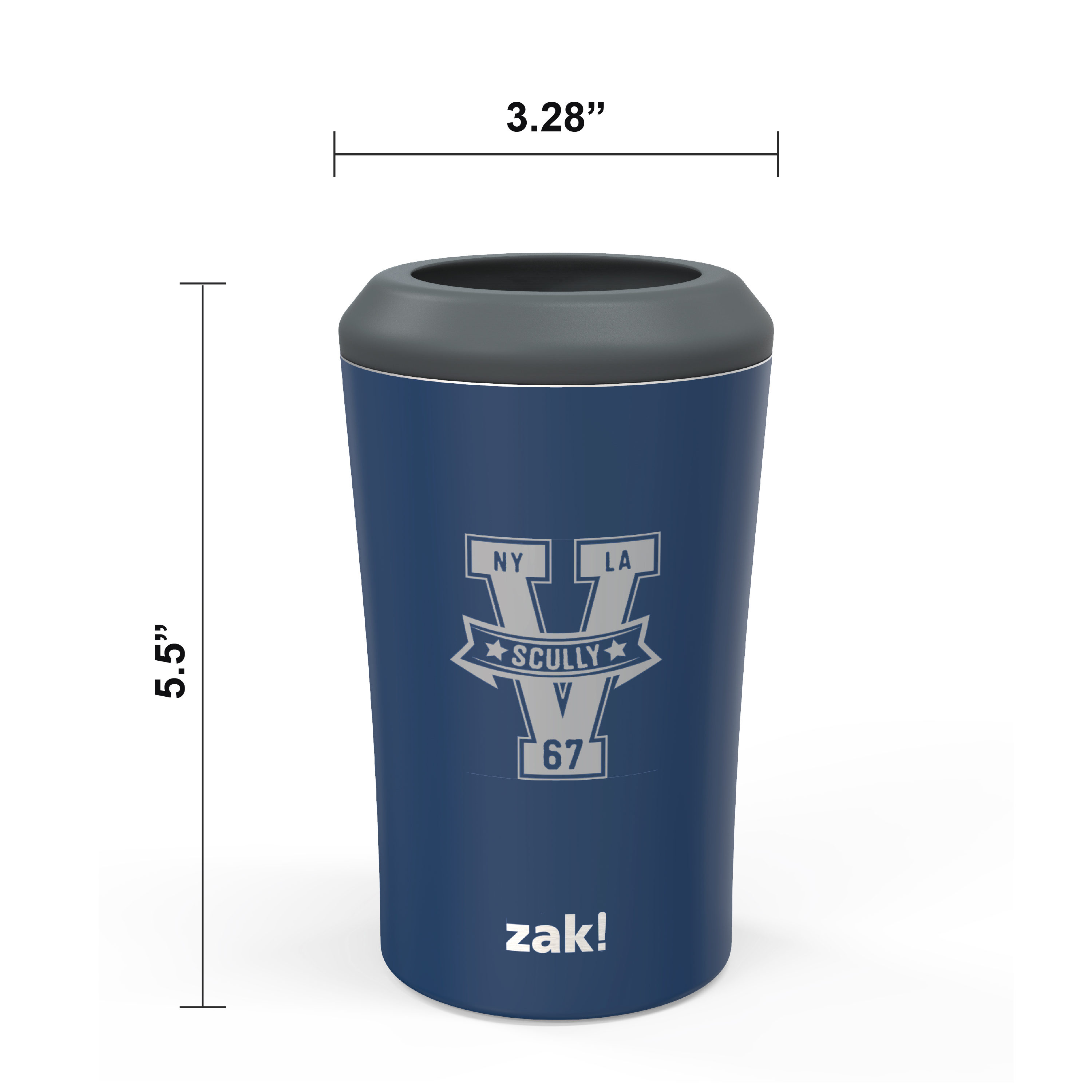 Zak Hydration 12 ounce Double Wall Stainless Steel Can and Bottle Cooler with Vacuum Insulation, Vin Scully slideshow image 8