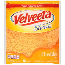 Velveeta Shreds Cheddar Flavor Cheese 32 oz Bag