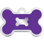 Chrome with Purple Epoxy Large Bone Quick-Tag