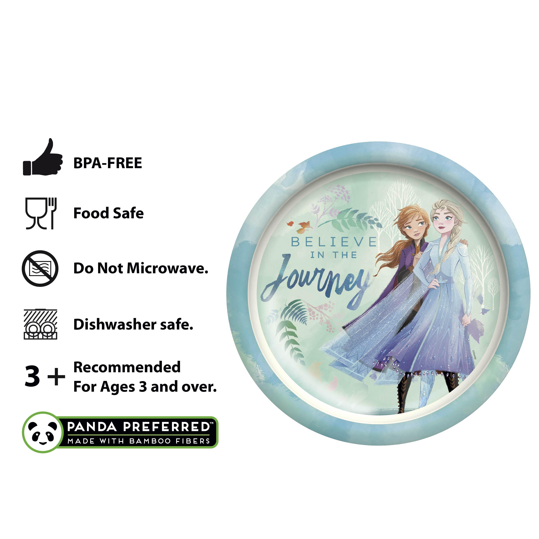 Disney Frozen 2 Movie Kids Plate and Bowl Set, Anna & Elsa, 2-piece set slideshow image 5