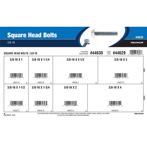 Square Head Bolts Assortment (3/8