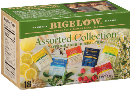 Assorted Collection Herbal Teas - Case of 6 boxes- total of 108 teabags
