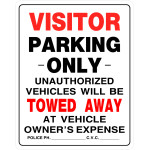 "Visitor Parking Sign, 19"" x 15"""