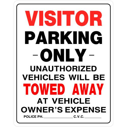 Visitor Parking Sign (19