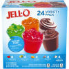 Jell-O Sugar Free Gelatin & Pudding Cups Mixed Variety Pack, 79 oz Multipack (24 Cups)