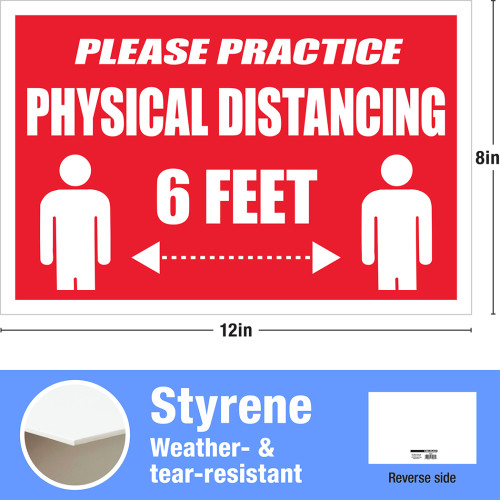 Hillman Please Physical Disance Sign (8