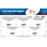"Extra Large Cork Stoppers Assortment (Top Diameters 1-1/4"" Thru 1-1/2"")"