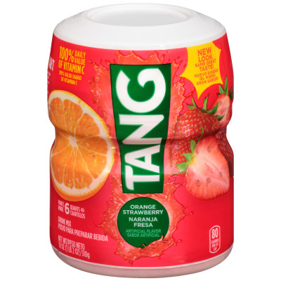 Tang Orange Strawberry Powdered Soft Drink 18 oz Canister