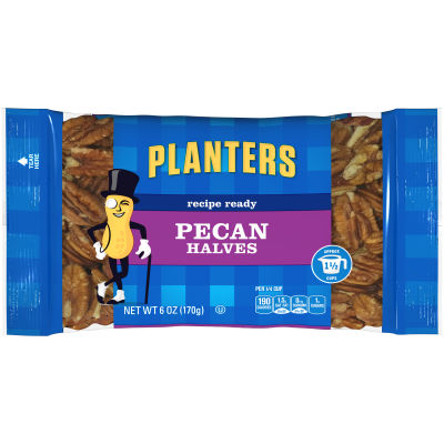 Planters Pecan Halves 6 oz Bag