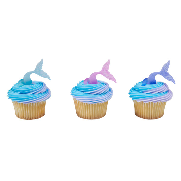 Mermaid Tail Wrap Cupcake Rings Decopac