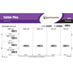 "Zinc Cotter Pins Assortment (3/16"" & 1/4"")"