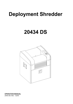 Dahle 20343ds Deployment Shredder User Guide