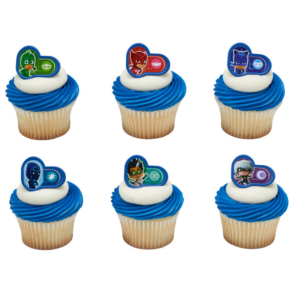 Pj Masks Heroes And Villains Cupcake Rings Decopac
