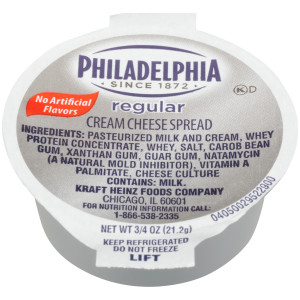 PHILADELPHIA Original Cream Cheese Spread, 0.75 oz. Cup (Pack of 100) image