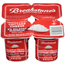 Breakstone's Small Curd 4% Milk fat Min Cottage Cheese 4 - 4 oz Blister Pack