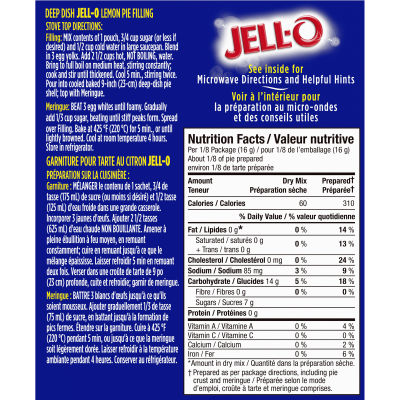 Jell-O Instant Pudding and Pie Filling, Lemon