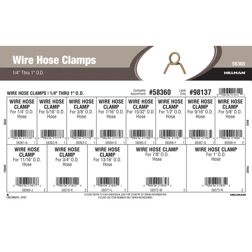Wire Hose Clamps Assortment (1/4