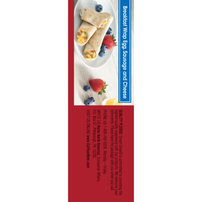 Smart Ones Tasty American Favorites Breakfast Wrap Egg Sausage & Cheese 2 - 4 oz Packs