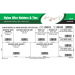 Nylon Wire Holders and Ties Assortment (Adhesive Wire Holders, Clips, & Twist Locks)