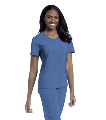 Urbane Performance V-Neck Scrub Top for Women: 3 Pocket, Modern Tailored Fit Extreme Stretch Moisture Wicking Medical Scrubs 9047-