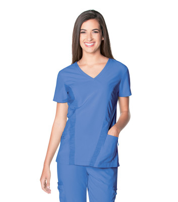 Urbane Performance V-Neck Scrub Top for Women: 2 Pocket, Modern Tailored Fit, Extreme Stretch Moisture Wicking Medical Scrubs 9061-Urbane