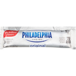PHILADELPHIA Original Cream Cheese Spread, 1 oz. Pouch (Pack of 100) image