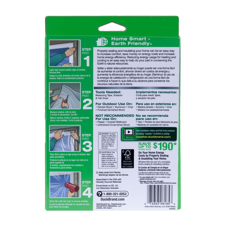 Outdoor Shrink Film Window Insulation Kit