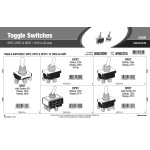Toggle Switches Assortment (SPDT, DPST, & DPDT)