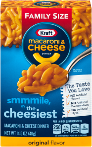 Kraft Original Macaroni & Cheese Dinner 14.5 oz Box image