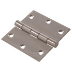 Hardware Essentials Square Corner Stainless Steel Door Hinges