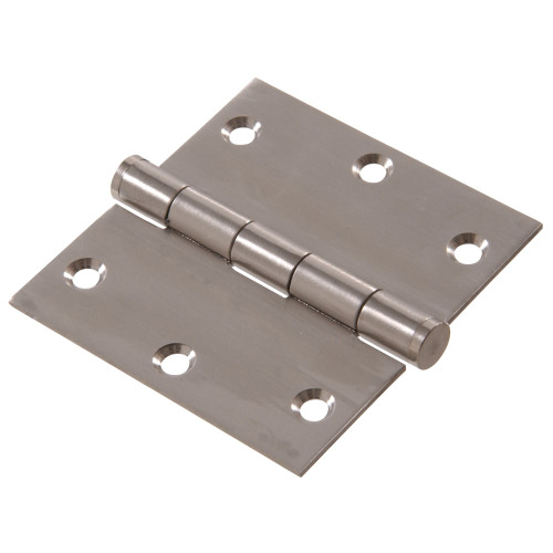 Hardware Essentials Square Corner Stainless Steel Door Hinges (3-1/2