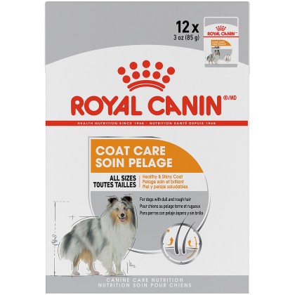 Royal Canin Canine Care Nutrition Coat Care Pouch Dog Food